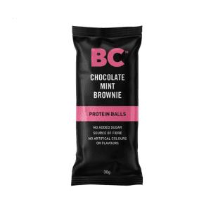 BC Chocolate Mint Brownie Balls