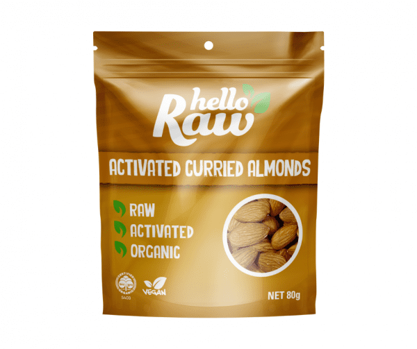 Hello Raw Activated Curried Almonds