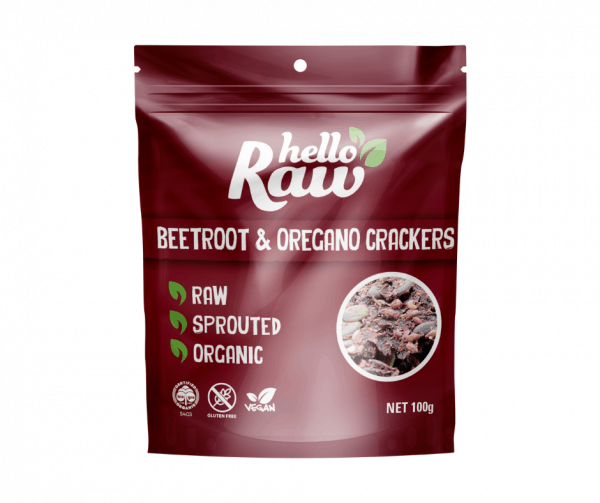 Hello Raw Beetroot & Oregano Crackers