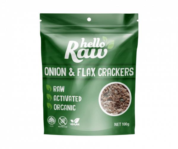 Hello Raw Onion & Flax Crackers