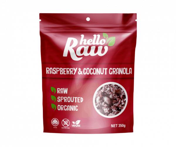 Hello Raw Raspberry & Coconut Granola