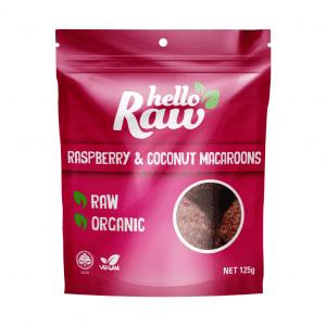 Hello Raw Raspberry & Coconut Macaroons