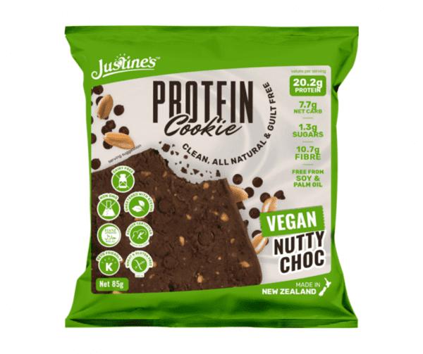 Justine's Keto Friendly Vegan Nutty Choc Protein Cookie